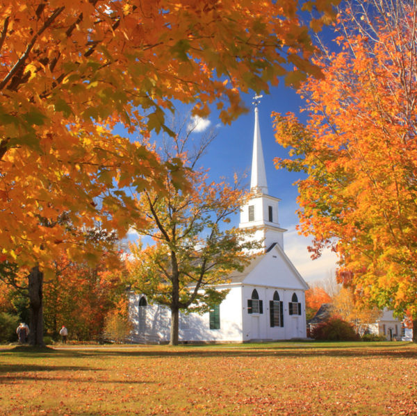 1794 Meetinghouse in the Fall
